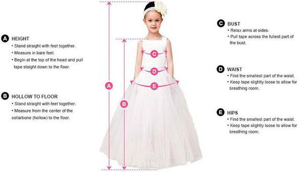 3D Flowers Childrens Wedding Flower Girls Dresses Princess Long Sleeves Custom Made Fushia/Pink - Cosplay Infinity