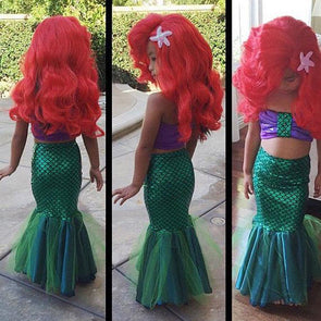 Little Mermaid Tail Princess Ariel Dress Cosplay Costume Girls - Cosplay Infinity