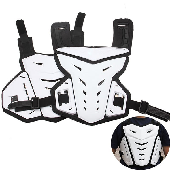 White Motocross Off Road Armor Racing Motorcycle Jacket Protective Gear Cosplay Costume - Cosplay Infinity