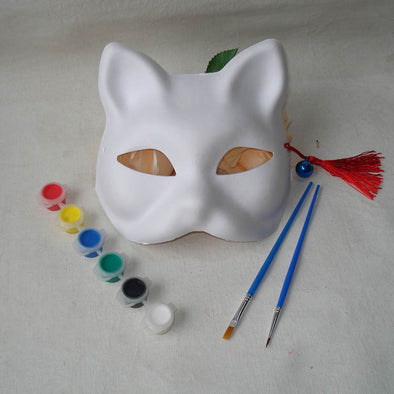 Fox Dog Blank Mask DIY Handmade Naruto Unpainted Blank White Women Party Masks - Cosplay Infinity