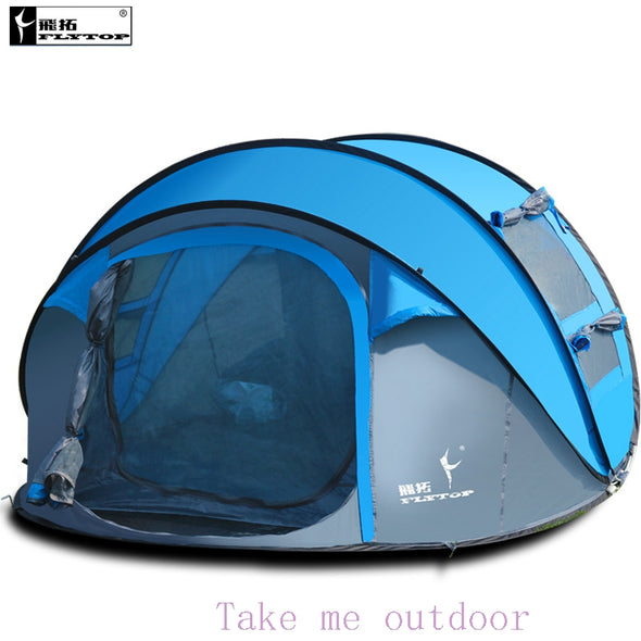 3 4 5 6 person automatic pop up quick open family outdoor camping tent - Cosplay Infinity