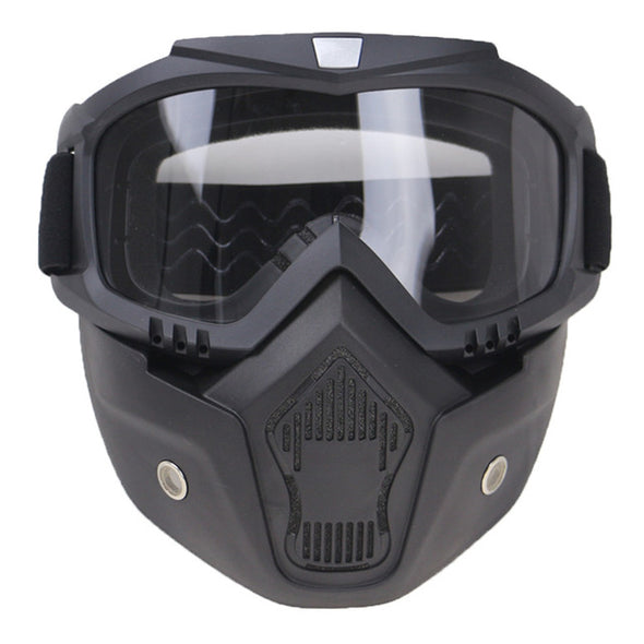 Professional Retro Motorcycle Helmet Goggle MASK Open Face CE Approved
