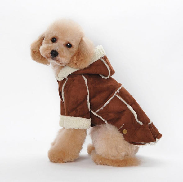 Suede Fabric Dog Clothes Winter Warm Clothing For Dogs - Cosplay Infinity