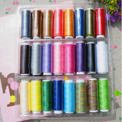 New 24 Lot Polyester Spools All Purpose Sewing Needle And Quilting Threads - Cosplay Infinity