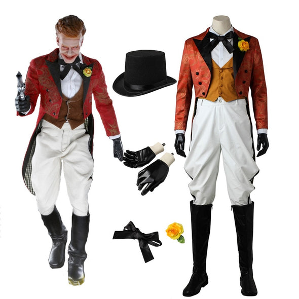 Gotham Jerome Valeska Custom Made Cosplay Costume Adult Men the Joker Costume Outfit Halloween - Cosplay Infinity
