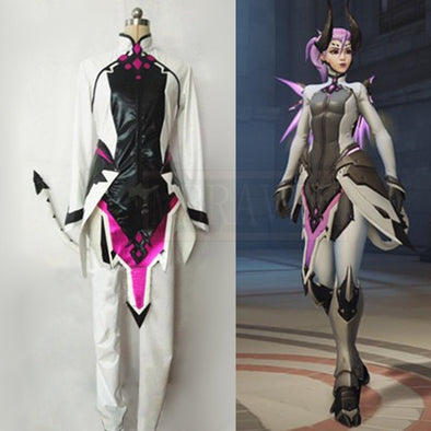 Custom Made Angela Ziegler Cosplay Costume Mercy Outfit Adult Women Halloween Carnival Clothes