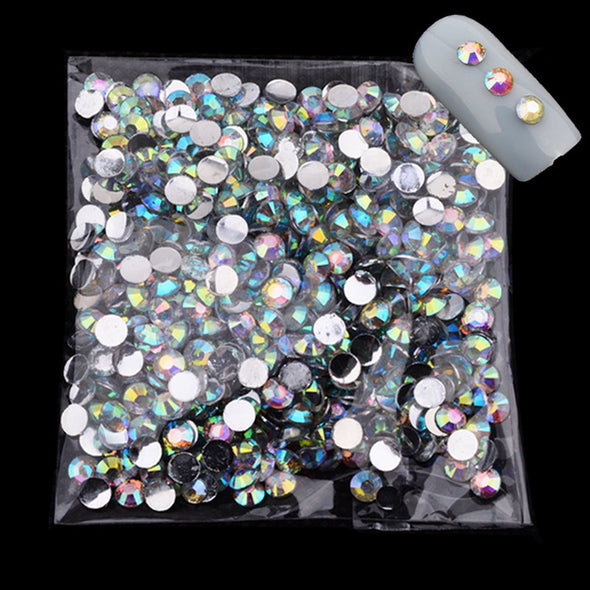 1000pcs/lot Acrylic Crystal Art Rhinestones 4mm White Glitter Top Quality Flatback - Cosplay Infinity