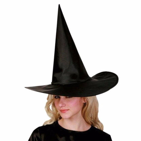 Lot of Ten Womens Black Witch Hats For Halloween - Cosplay Infinity