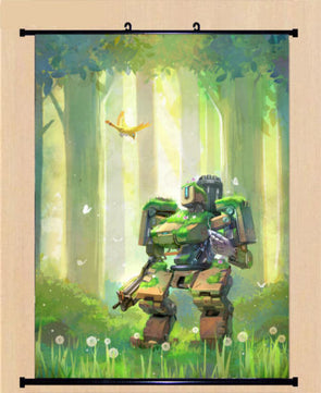 Game Overwatch OW Bastion Cosplay Poster Wall Home Decor Scroll Gift