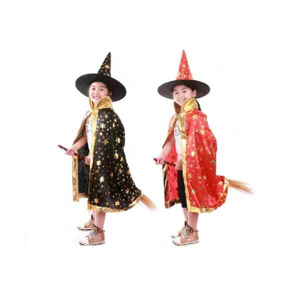 Children Colorful  Wizard Hat  Witch Hat Coak Star Magician - Cosplay Infinity