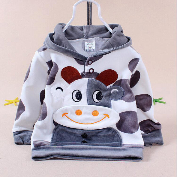 Newborn Baby Girls Boys Cartoon Cow Warm Outfits Clothes - Cosplay Infinity