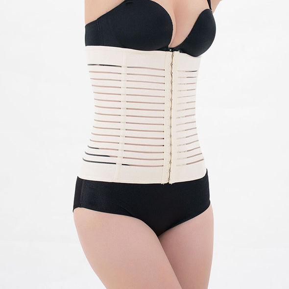 Latex Rubber Waist Body Corset Body Shaper Enhanced Abdominal Belt Black 2XL 3XL - Cosplay Infinity