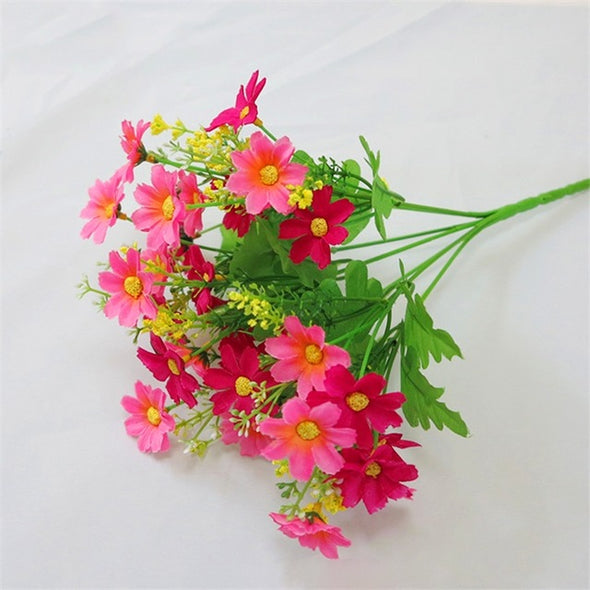 One Bouquet Artificial Silk Daisy Flowers 28 Heads 7 Branches Chrysanthemum - Cosplay Infinity
