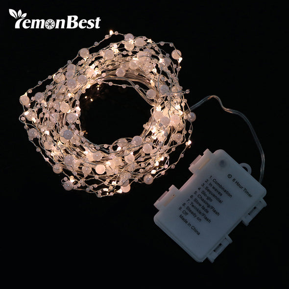 6m 60-LED Pearl Copper Wire String Light Warm White Fairy Lights - Cosplay Infinity