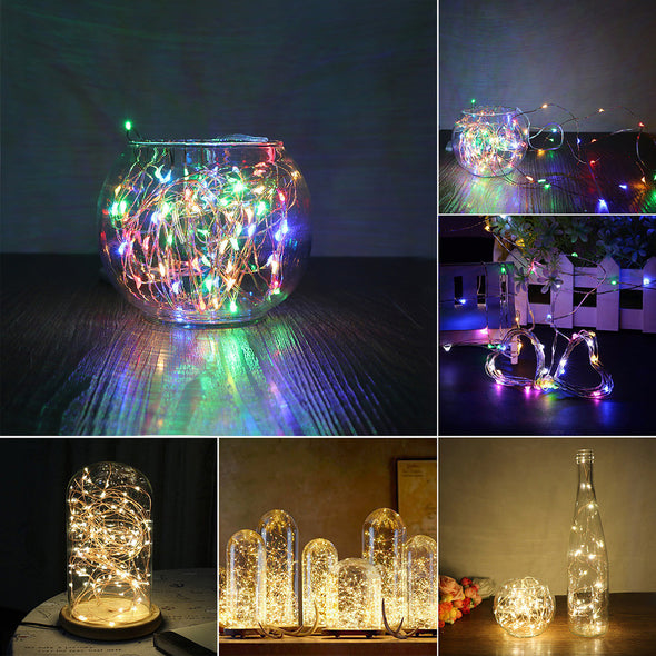Konesky 5M 50 LED String Lights Craft Bottle Garland Decoration Christmas Flasher Fairy Lights - Cosplay Infinity