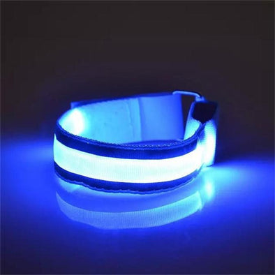 Nylon Armbands Night Reflective Wristband LED Bracelet Party Supplies - Cosplay Infinity