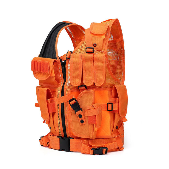 Bright Orange Hunting Vest Military Tactical  Body Armor Cosplay - Cosplay Infinity