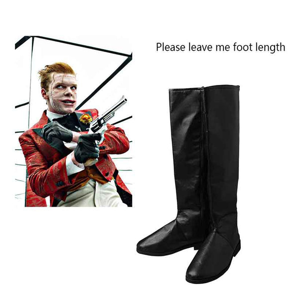 Gotham Jerome Valeska Cosplay Boots Black Shoes DC Superhero Shoes Halloween Props