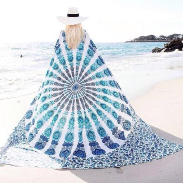 Beach Cover Up Bikini Boho Summer Dress Swimwear Blanket Cloak - Cosplay Infinity