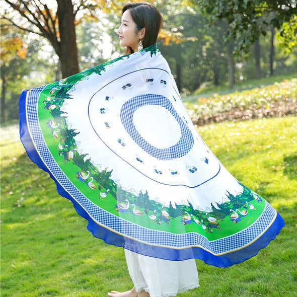 Round Hippie Tapestry Beach Picnic Throw Towel Blanket Cloak - Cosplay Infinity