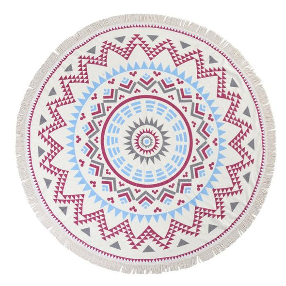 Round Hippie Tapestry Beach Throw Roundie Mandala Towel Yoga Mat Bohemian Blanket - Cosplay Infinity
