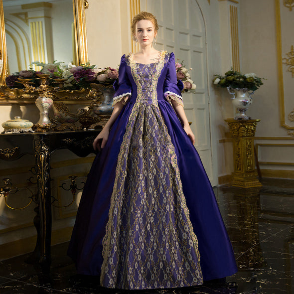 Women's Medieval Renaissance Rococo Dresses Gothic Princess Brocade Ball Gown Period Dress Marie Antoinette Clothing