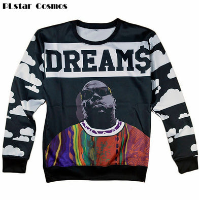 Cosmos Hip Hop Biggie Smalls Dreams Pullover Hoodies 3d Print - Cosplay Infinity