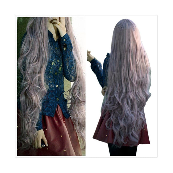 Women Lady Long Curly Wavy Hair Wigs Cosplay Party Anime - Cosplay Infinity