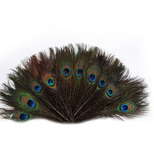 100pcs WOW  Beautiful Natural Peacock Tail Feathers Headdress Mask - Cosplay Infinity