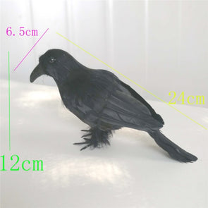 2pcs Realistic Looking  Raven Black Birds  Feathered Crows - Cosplay Infinity