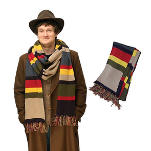 Dr Doctor Who Scarf Deluxe Stripes Tom Baker Scarf Super Long 143*9 Inch Shawl Cosplay Costume - Cosplay Infinity