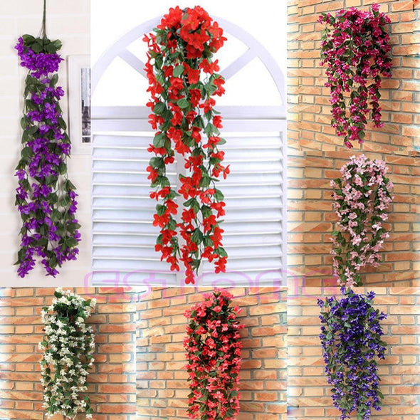 One Garland of Vine Flowers Artificial Fake Violet Hanging Garland - Cosplay Infinity