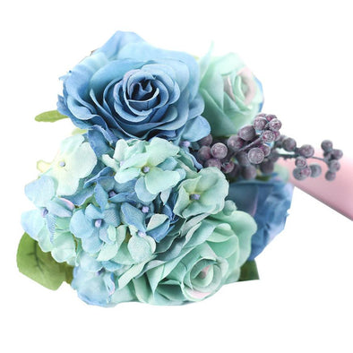 One bouquet of Artificial Silk Flowers Leaf Rose Bouquet Floral Crafts - Cosplay Infinity