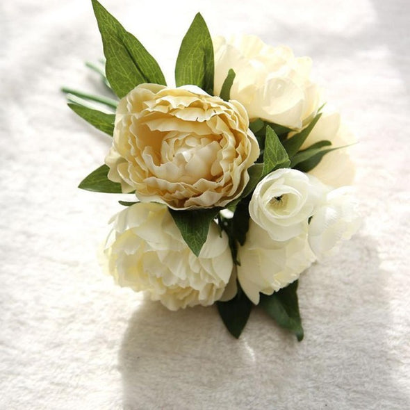 One Bouquet Artificial Fake Flowers Peony Bouquet Floral Crafts - Cosplay Infinity