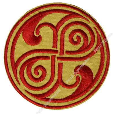 "Lot of Ten 3.5"" Seal of Rassilon Doctor Who DR WHO Badge TV Series Yellow Red Applique Sew On Iron On Patch Memorabilia - Cosplay Infinity"