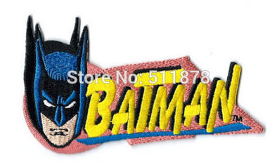 "Lot of Ten 4.5"" SUPER HERO BATMAN HEAD DC COMICS Logo Crest Badge TV movie Fancy Embroidered Sew On Iron On Patch Applique - Cosplay Infinity"