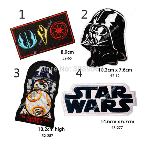 "Set of Four Different 4"" STAR WARS Darth Vader TV Movie Fancy Embroidered Sew On Iron On Patch Applique - Cosplay Infinity"