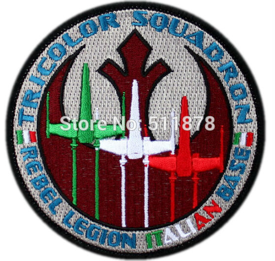 "Lot of Ten 3.5"" STAR WARS TRICOLOR SQUADRON TV Movie Fancy Embroidered Sew On Iron On Applique - Cosplay Infinity"