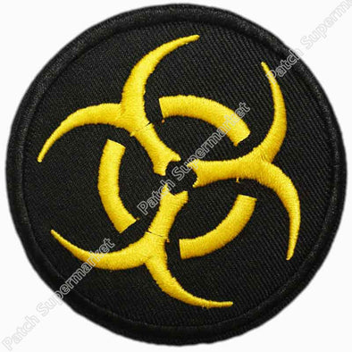 "Lot of Ten 3"" BIOHAZARD Resident Evil Logo SYMBOL TV Movie Film Iron On Sew On Patch 7.6cm - Cosplay Infinity"