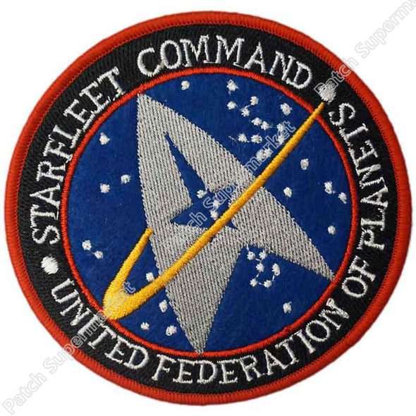 "One 4"" Star Trek Starfleet Command Movie TV Baseball Cap Iron On Sew On Patch Cosplay Costume - Cosplay Infinity"