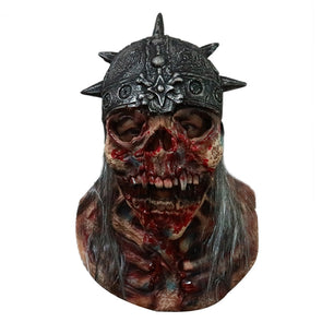 Super Scary Skull Dead Warrior Halloween Latex Mask Full Face Adult Breathable Masquerade Cosplay Costume Mask - Cosplay Infinity