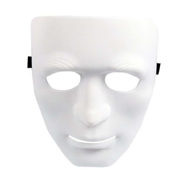 One White Plastic Blank Unpainted Mask Party Supplies Cosplay - Cosplay Infinity