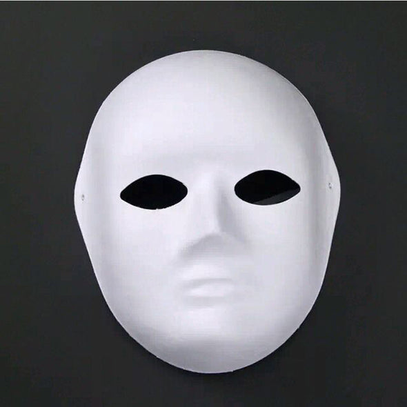Lot 15 Women Men Face Unpainted DIY Blank Mask - Cosplay Infinity