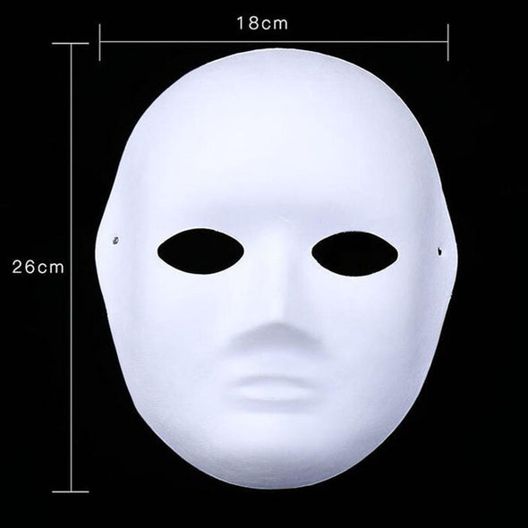 LOT 100  Diy Hand-painted Pulp Plaster Covered Paper Blank Mask - Cosplay Infinity