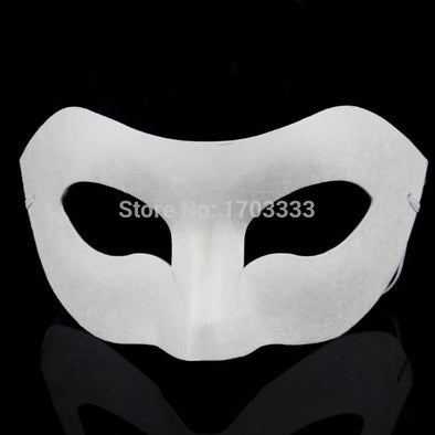 Lot of 300 Zorro Best Blank Male Half Mask DIY Unpainted White Face - Cosplay Infinity
