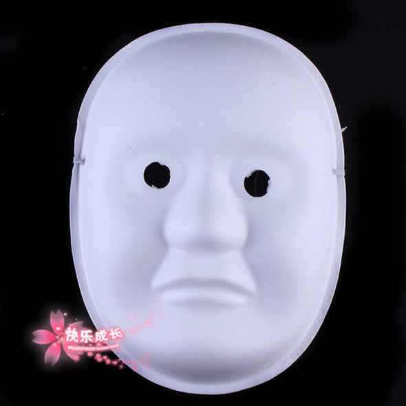 Lot of TEN Screaming Ghosts DIY Blank Party Mask White - Cosplay Infinity