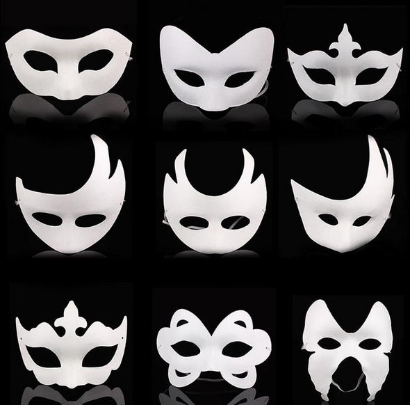 Lot of 300 DIY Blank Unpainted White Face Mask Crown Butterfly - Cosplay Infinity