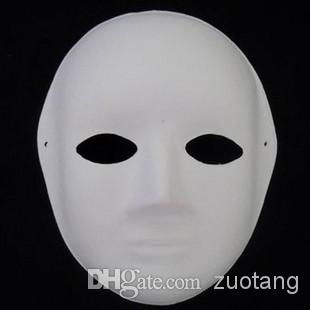 Lot of TEN Blank Paper Pulp Party Masquerade Masks DIY Fine Art - Cosplay Infinity