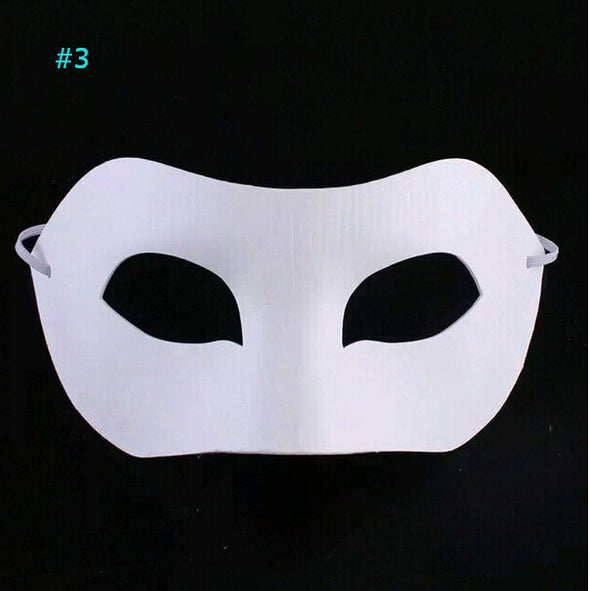 Wholesale 2000pcs White Plain Paper Mask with Elastic DIY Blank Masquerade Masque - Cosplay Infinity