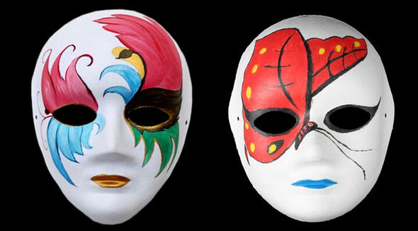 Lot of 1000 Dance Costume Paint Your Own White Blank Mask Kids Painting Party Halloween - Cosplay Infinity